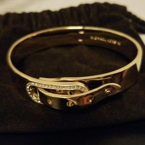 NWOT michael kors pave gold tone bracelet